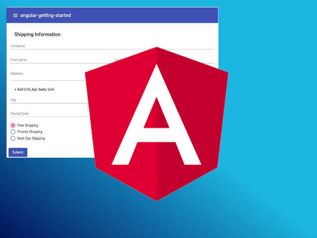 Getting started with Angular using Material